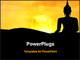 PowerPoint Template - a statue of a lord buddha