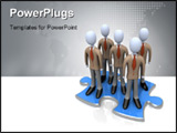 PowerPoint Template - Computer Generated Image - The Right Team .
