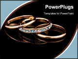 PowerPoint Template - Gold Rings on Black background