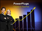 PowerPoint Template - business statistics graph with nice lighting effects