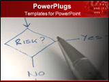 PowerPoint Template - a diagram with pen about manageing risk in a flow chart