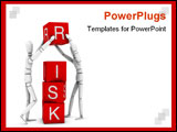 PowerPoint Template - Risk: High quality and resolution 3d illustration.