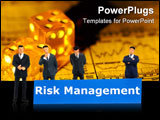 PowerPoint Template - word risk management showing business investment or finance concept