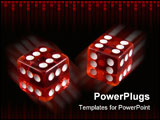 PowerPoint Template - Loaded dice - always throwing double six