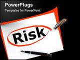 PowerPoint Template - risk in financial business investment is dangerous