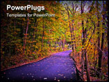 PowerPoint Template - Country Lane in full autumn color.
