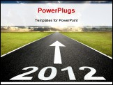 PowerPoint Template - road to the new year 2012 and sunrise