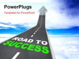 PowerPoint Template - The Road to Success - Words on Arrow Going Up