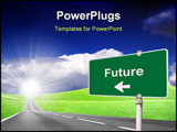 PowerPoint Template - Future Sign Concept with Green Street Light