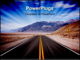 PowerPoint Template - Black road in Death Valley National Park