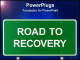 PowerPoint Template - Positive message traffic sign designed to serve a number of business and health related concepts.