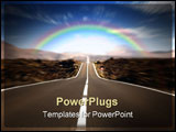 PowerPoint Template - road in a rural area with a nice sky in motion