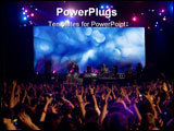 PowerPoint Template - Cheerful crowd at the rock concert with raised hands