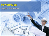 PowerPoint Template - rolls of architecture blueprints & house plans