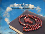 PowerPoint Template - Rosary over a religious book