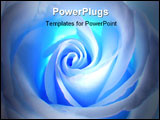 PowerPoint Template - white - blue rose .decoration for cd of a disk , album and other.