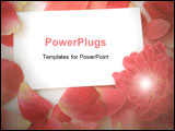 PowerPoint Template - a image of petals and a flower with a blank card