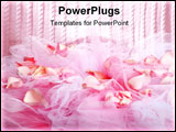 PowerPoint Template - Knitted fabric and rose petals as background