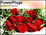 PowerPoint Template - a dozen roses