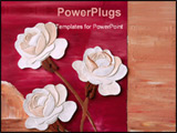 PowerPoint Template - white roses in front of red background