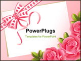 PowerPoint Template - The Vector illustration - pink roses and paper