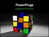 PowerPoint Template - A Tough Rubix Cube Challenge in Super High Resolution with 800DPI. Rendered in Cinema 4D.