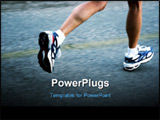 PowerPoint Template - feet of a running woman