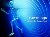 PowerPoint Template - Human skeleton running