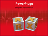 PowerPoint Template - block letters - 3d concept illustration RX