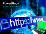 PowerPoint Template - Secure web network