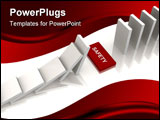 PowerPoint Template - White dominoes with a safety gap - a 3d image