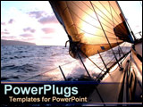 PowerPoint Template - Sail boat in water