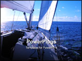 PowerPoint Template - sailing in Atlantic Ocean