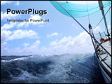 PowerPoint Template - sailing in atlantic