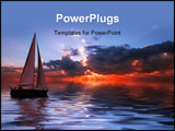 PowerPoint Template - Sailing on a beautiful night