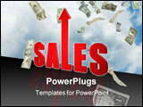 PowerPoint Template - Sales up improvement illustration