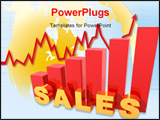 PowerPoint Template - A 3d picture to illustrate company sales