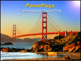 PowerPoint Template - aker beach is a state and national public beach on the pacific ocean coast on the san francisco pen