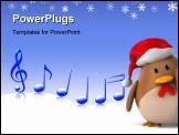 PowerPoint Template - Santa chicken