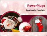 PowerPoint Template - Happy Santa, Christmas Lights Background