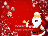 PowerPoint Template - A computer generated abstract 2d Santa Claus background