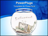 PowerPoint Template - Saving Up For Retirement With Money In A Clear Jar