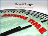 PowerPoint Template - Clock with words Savings Time on its face