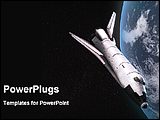 PowerPoint Template - a space shuttle moving around the earth