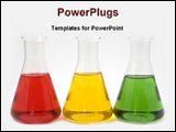 PowerPoint Template - different solutions in conical flasks