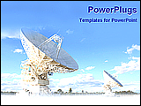 PowerPoint Template - image of a big dish antenna