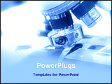 PowerPoint Template - image of a microscope