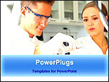 PowerPoint Template - scientists are in research work