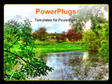 PowerPoint Template - This is a high dynamic range photo of a very colorful picturesque view over a river.