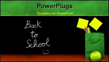 PowerPoint Template - Back to school concept colorful students accessories in the classroom time to study